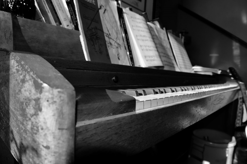 My grandmother's piano. Photo by Alexis Bonogofsky.