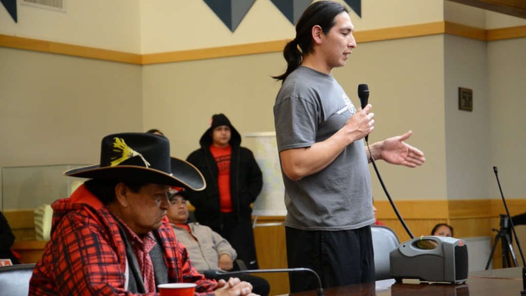Lucas King. Northern Cheyenne. Otter Creek Scoping Hearing. January 2013.