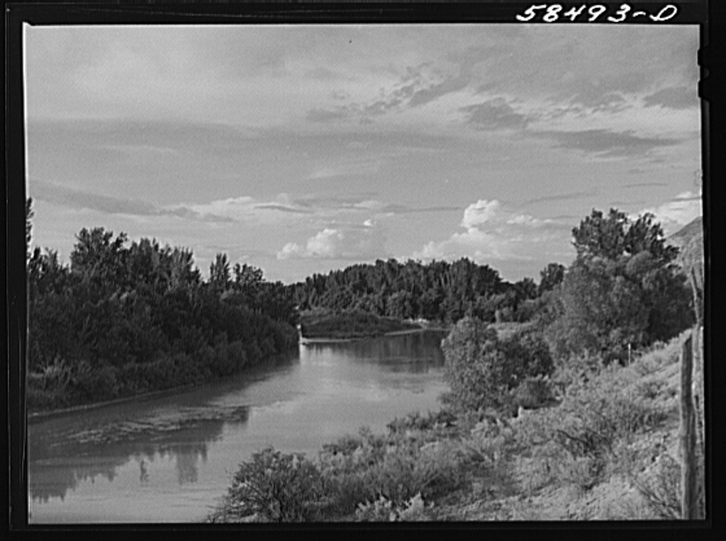 Tongue River, Birney, Montana1941 Aug.  Wolcott, Marion Post, 1910-1990,