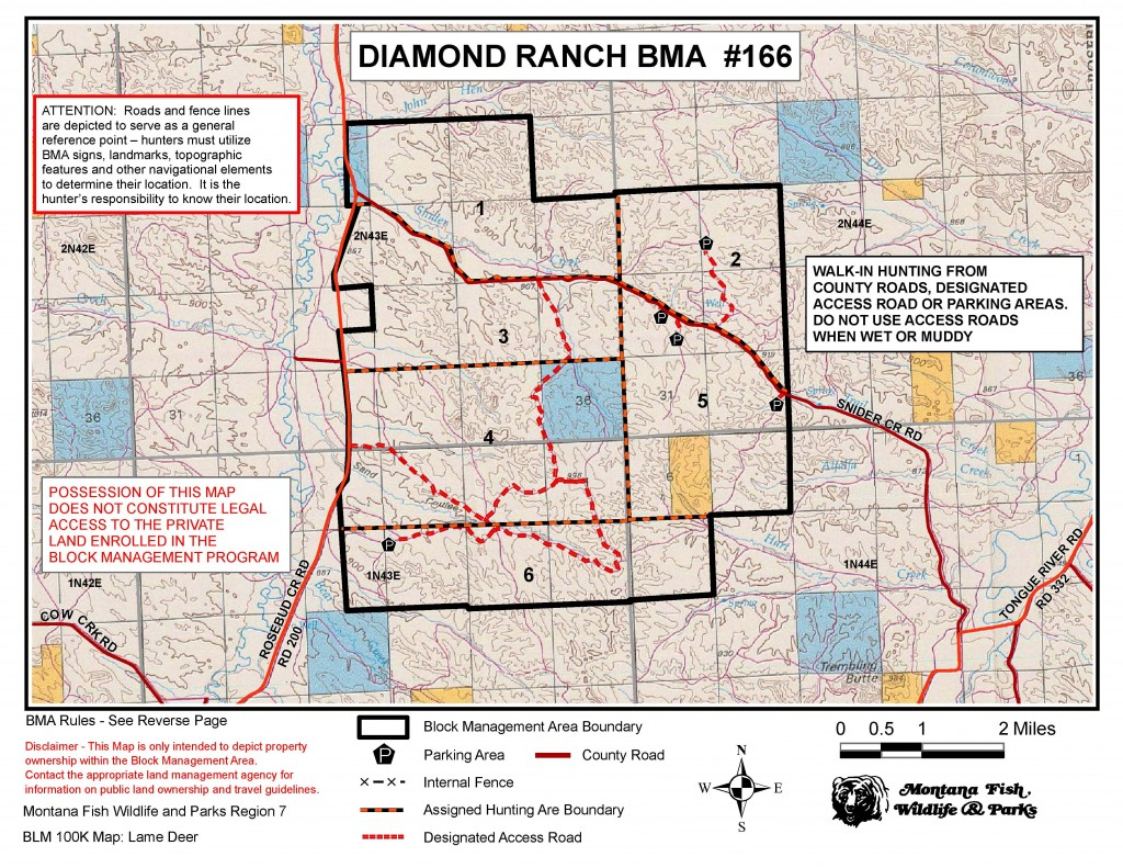 the old block management map from Fish, Wildlife and Parks